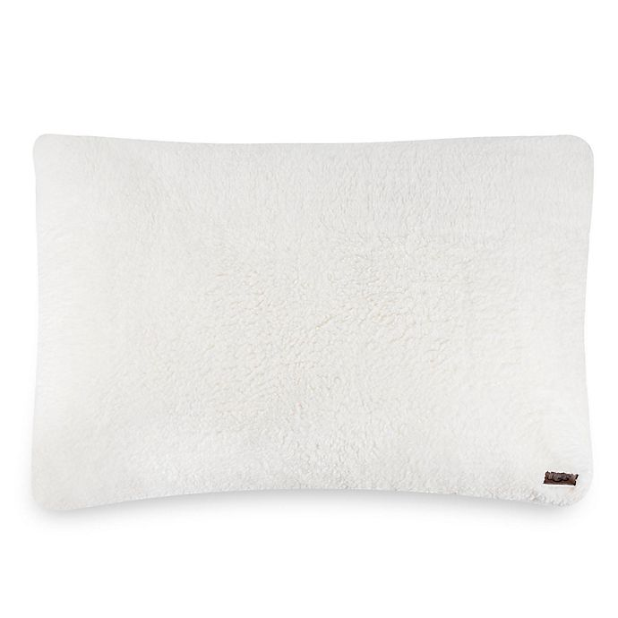Alternate image 1 for UGG® Sherpa Standard/Queen Pillow in Snow