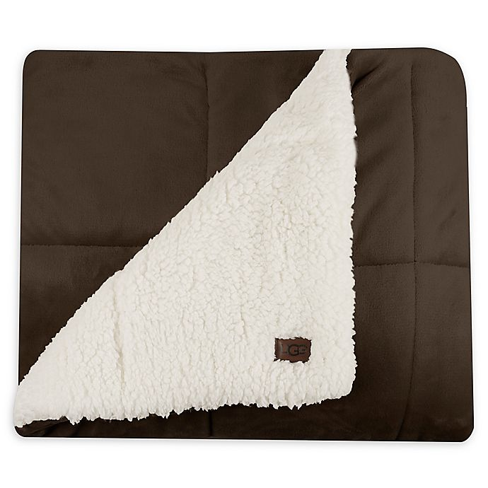 Amazing Deal on UGG® Avalon Sherpa Throw Blanket in Chocolate