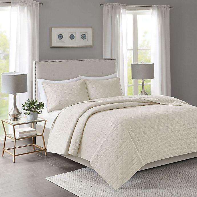 Alternate image 1 for Madison Park Linnette King/California King Coverlet Set in Ivory