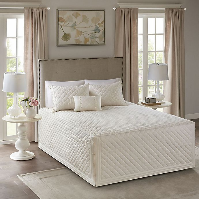 Alternate image 1 for Madison Park Breanna King/California King Bedspread Set in Ivory