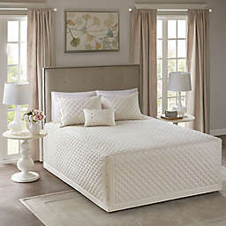 Madison Park Breanna 4-Piece Reversible King/California King Bedspread Set in Ivory