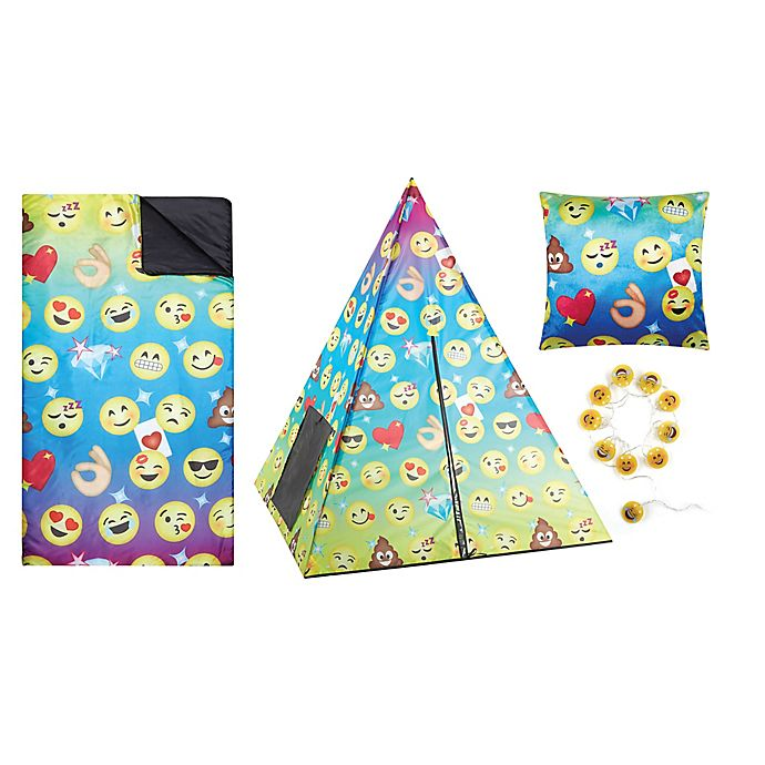 Alternate image 1 for Emoji 4-Piece Teepee Tent Set