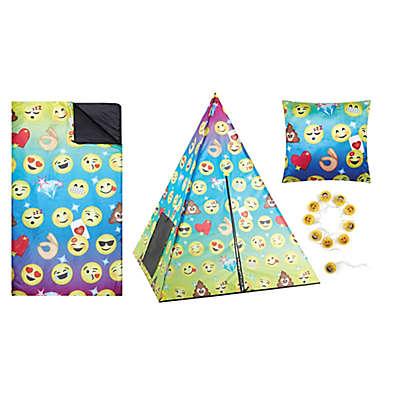 Emoji 4-Piece Teepee Tent Set