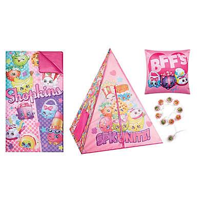 Shopkins 4-Piece Girls Teepee Tent Set