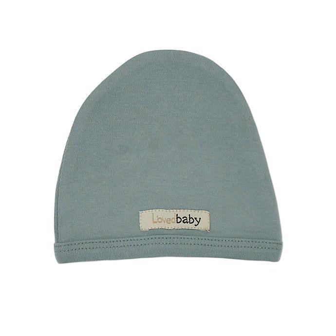 Alternate image 1 for L'ovedbaby® Organic Cotton Cute Cap in Seafoam