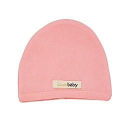 L'ovedbaby Newborn/Preemie Organic Cotton Cute Cap in Coral