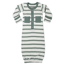 L'ovedbaby® Striped Organic Cotton Gown in Seafoam
