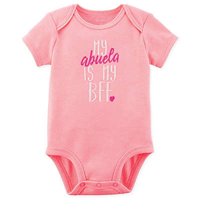 "carter's® ""My Abuela is my BFF"" Bodysuit in Pink"
