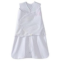 HALO® SleepSack® Dot Multi-Way Adjustable Cotton Swaddle in Pink/Grey
