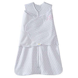 HALO® SleepSack® Dot Multi-Way Adjustable Cotton Swaddle in Pink/Grey