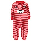 carter's® Newborn Zip-Front Striped Dog Sleep & Play Footie in Red