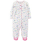 carter's® Newborn Ditsy Floral Footed Coverall in Ivory