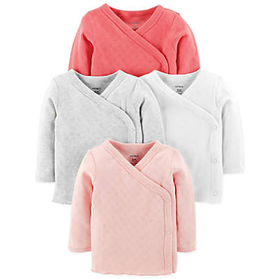 carter's® 4-Pack Side-Snap Long Sleeve Tees in Pink