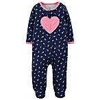 carter's® Newborn Heart Footed Coverall in Navy