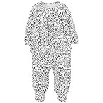 carter's® Size 9M Hearts Footed Coverall in Black/White