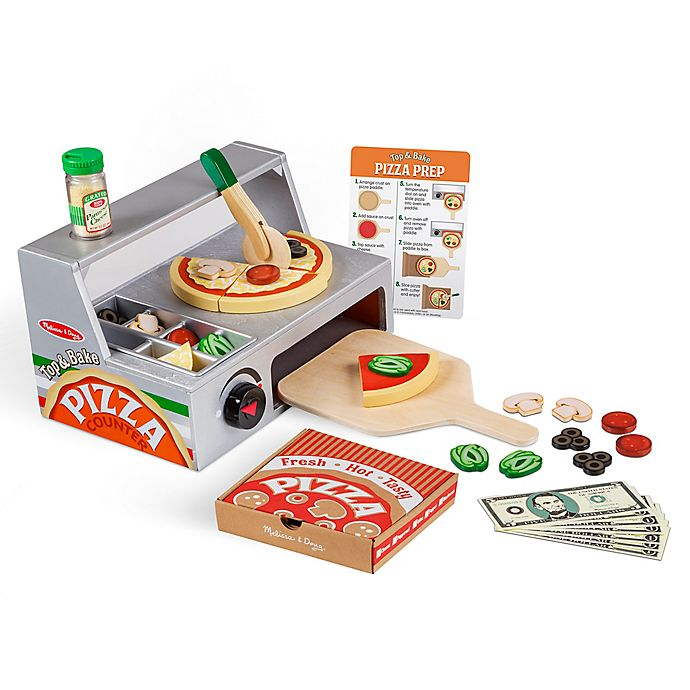 Alternate image 1 for Melissa & Doug® Top & Bake Pizza Counter 34-Piece Playset