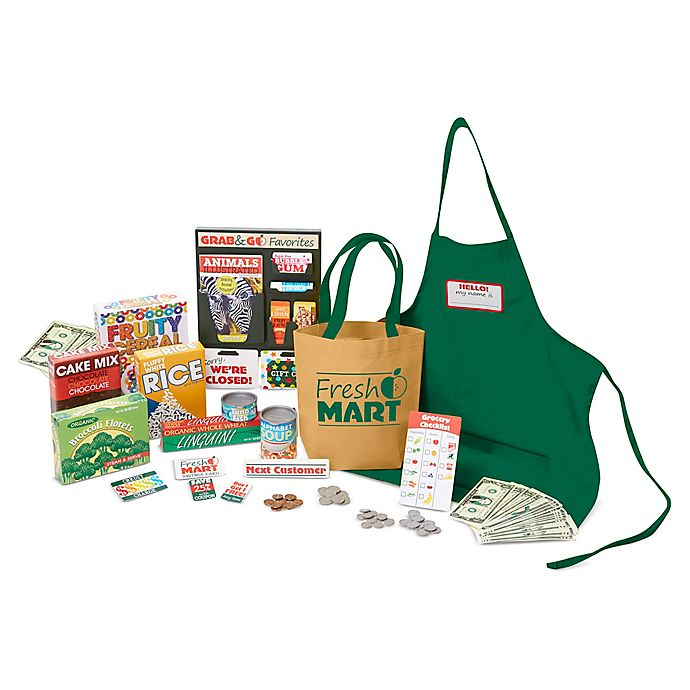 Alternate image 1 for Melissa & Doug® Fresh Mart Grocery Store Companion 70-Piece Playset