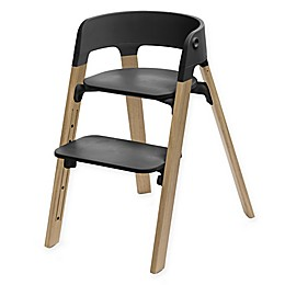 Stokke® Steps™ Chair Natural Oak Legs with Black Seat
