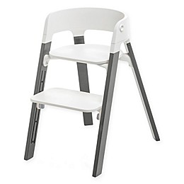 Stokke® Steps™ Chair Storm Grey Legs with White Seat