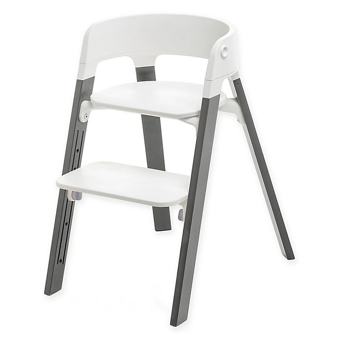 Alternate image 1 for Stokke® Steps™ Chair Storm Grey Legs with White Seat
