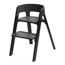 Stokke® Steps™ Chair Black Oak Legs with Black Seat