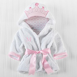 Baby Aspen Size Newborn-9M Little Princess Hooded Spa Robe in White