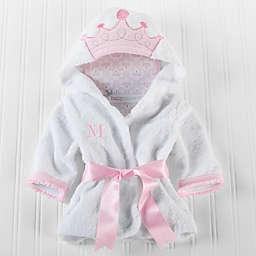 Baby Aspen Size Newborn-9M Little Princess Hooded Spa Robe in White