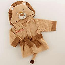 Baby Aspen Size Newborn-9M Lion Hooded Robe in Brown