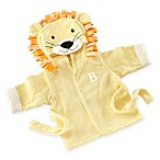 """Baby Aspen Size Newborn-9M """"Big Top Bath Time"""" Lion Hooded Spa Robe in Yellow"""