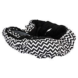 Floppy Seat® Shopping Cart Cover in Midnight Chevron