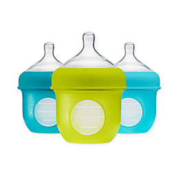 Boon NURSH™ 3-Pack Silicone Standard-Neck Pouch Bottles in Blue