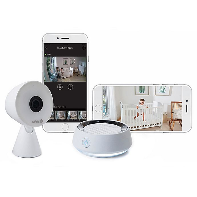 Alternate image 1 for Safety 1st® HD WiFi Baby Monitor with Sound/Movement Detecting Audio Unit in White