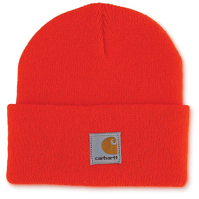 Alternate image 1 for Carhartt® Infant/Toddler Knit Hat in Orange