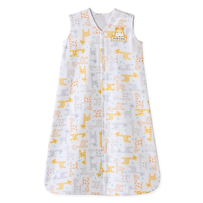 Alternate image 1 for HALO® SleepSack® Small Giraffe Wearable Cotton Blanket