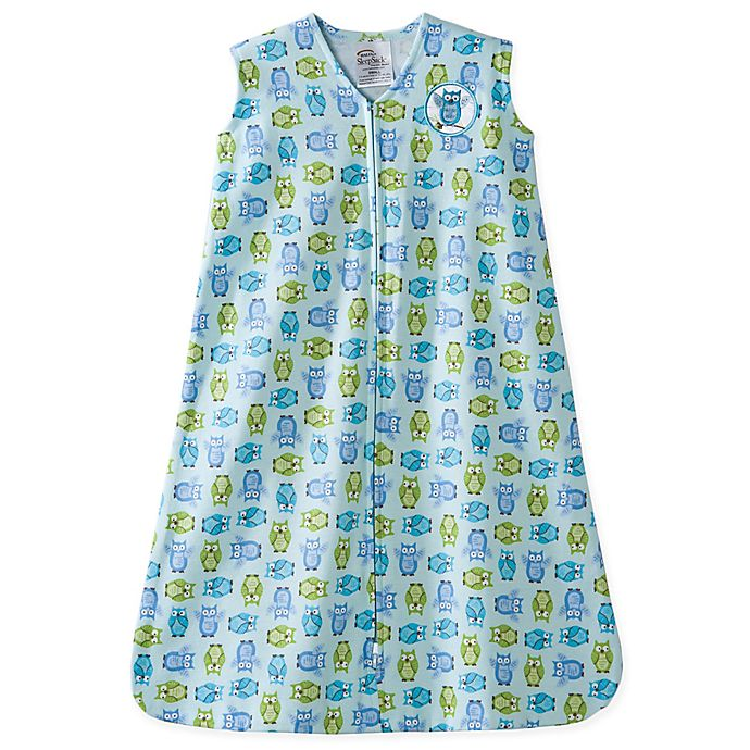 Alternate image 1 for HALO® SleepSack® Small Owl Wearable Cotton Blanket in Turquoise