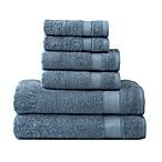 Wamsutta® 6-Piece Hygro® Duet Bath Towel Set in Slate