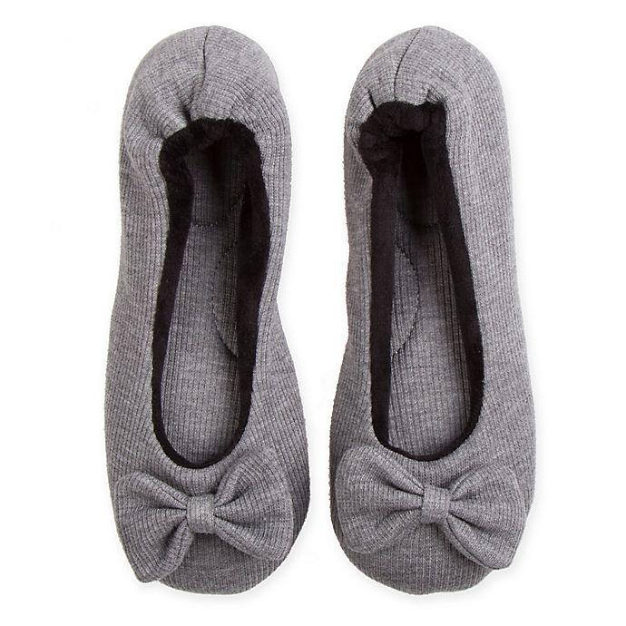 Alternate image 1 for Therapedic® Women's Small Ballet Slipper in Grey