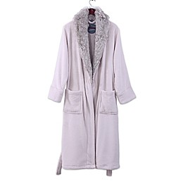 Berkshire PrimaLush Robe with Faux Fur Collar in Stardust