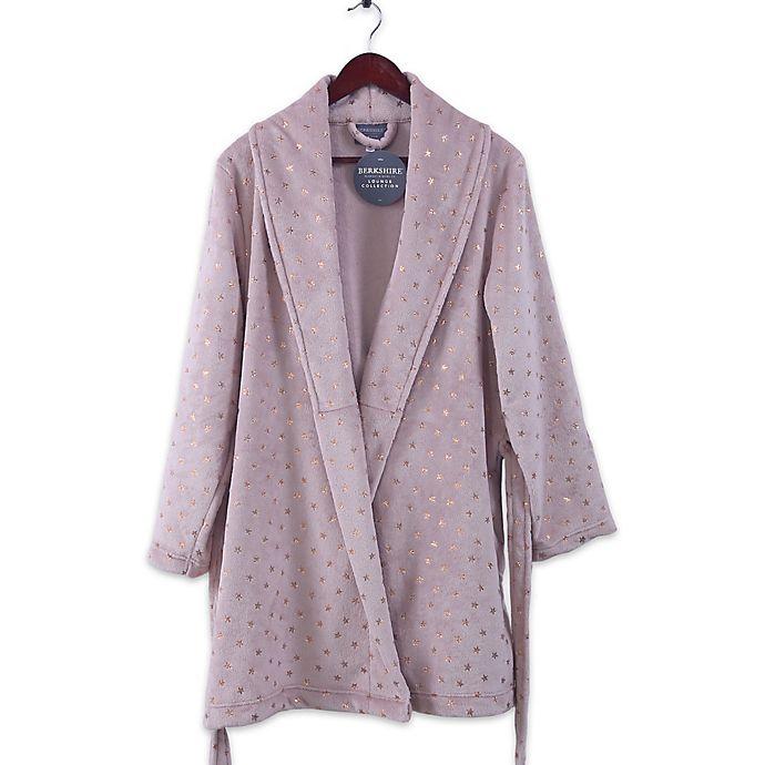 Alternate image 1 for Berkshire VelvetLoft® X-Large Robe with Metallic Stars in Rose