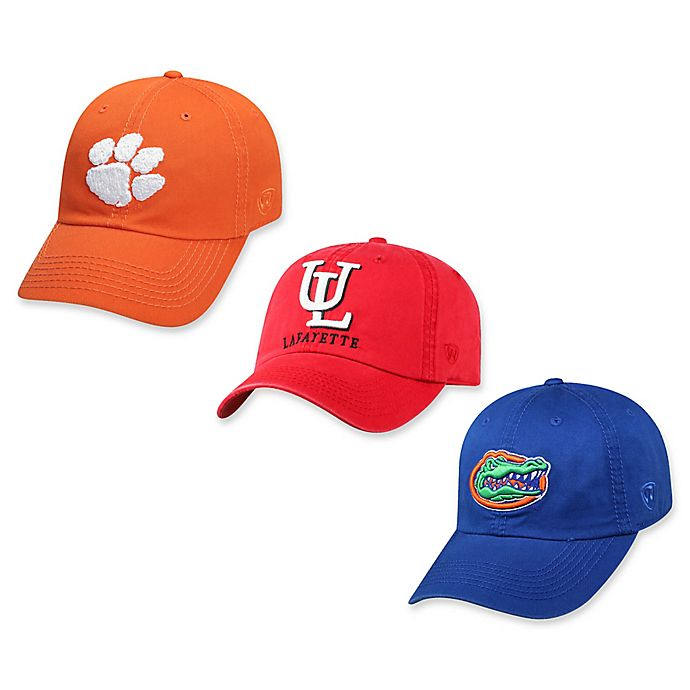 Alternate image 1 for Collegiate Adjustable Embroidered Crew Cap Collection