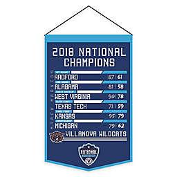 Villanova University Road to the 2018 NCAA Championship Banner