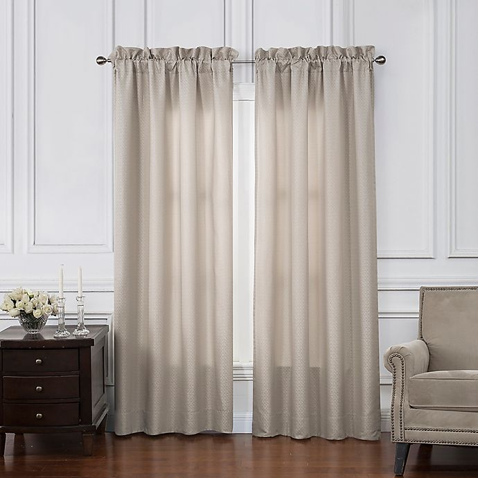 Alternate image 1 for Waterford® Victoria 84-Inch Rod Pocket Window Curtain Panel Pair