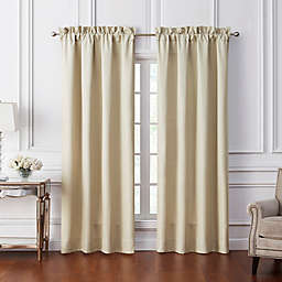Waterford® Annalise 84-Inch Rod Pocket Window Curtain Panel Pair in Gold