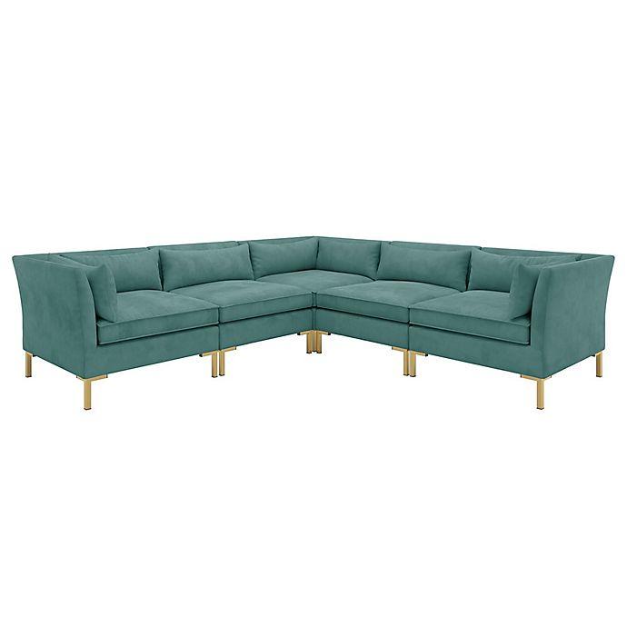 Doyer 5-Piece Microsuede Corner Sectional Sofa | Bed Bath ...