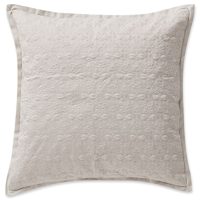 Alternate image 1 for Waterford® Victoria Damask Square Throw Pillow in Orchard