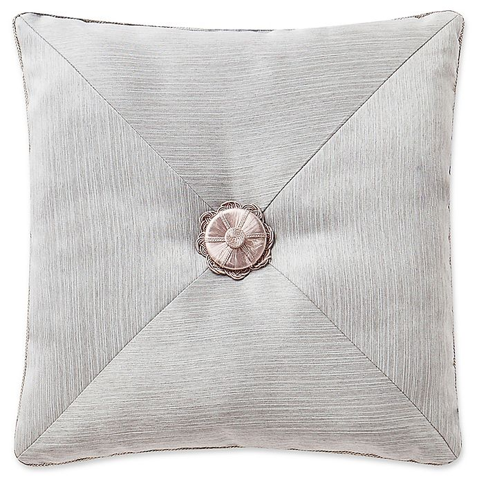 Alternate image 1 for Waterford® Farrah Tufted Square Throw Pillow in Aqua