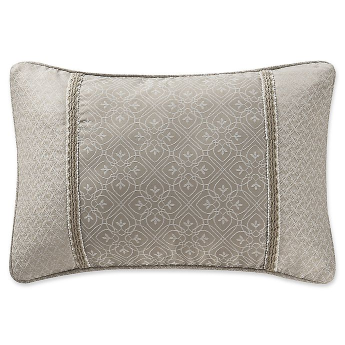 Alternate image 1 for Waterford® Victoria Embroidered Oblong Throw Pillow in Orchard