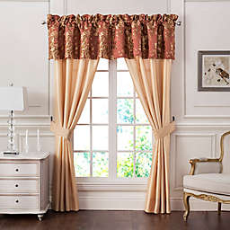 Marquis® by Waterford Devlin 84-Inch Rod Pocket Window Curtain Panel Pair in Gold