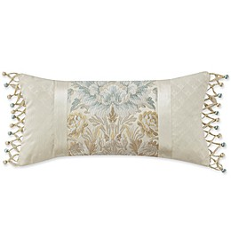 Marquis® by Waterford Warren Jacquard Oblong Throw Pillow in Beige