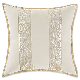 Marquis® by Waterford Warren Velvet Square Throw Pillow in Gold